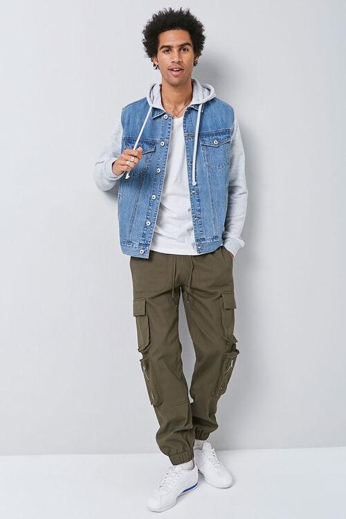 Combo Hooded Denim Jacket, image 4
