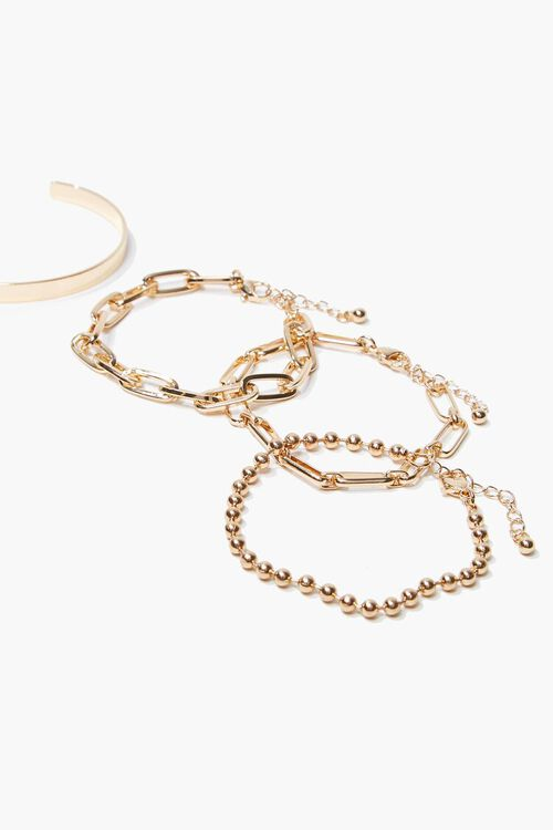 Bangle & Chain Bracelet Set, image 2