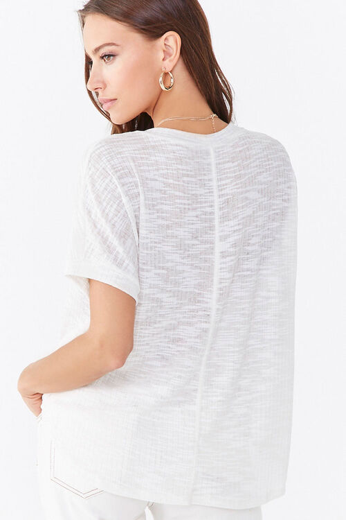 Ribbed Knit Dolphin Tee, image 3