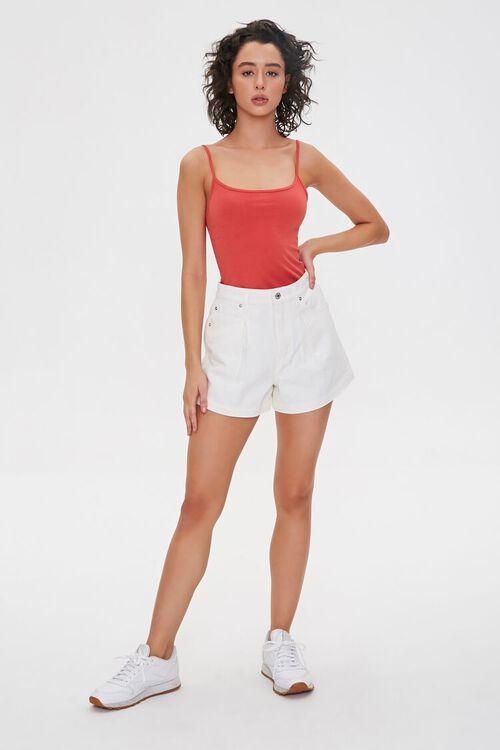Pleated Denim Shorts, image 5
