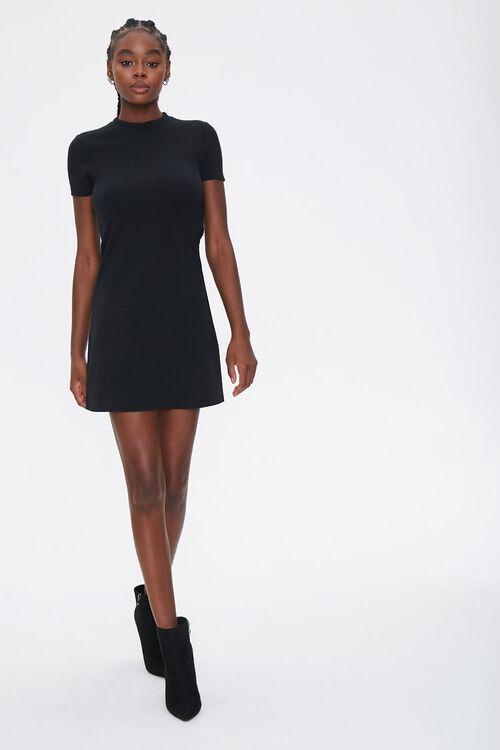 Mock Neck Mini Dress, image 4