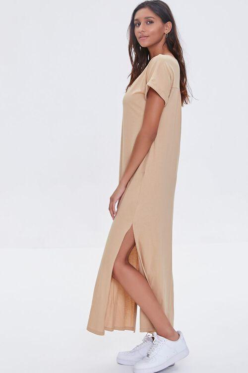SAND Side-Slit Maxi Dress, image 2