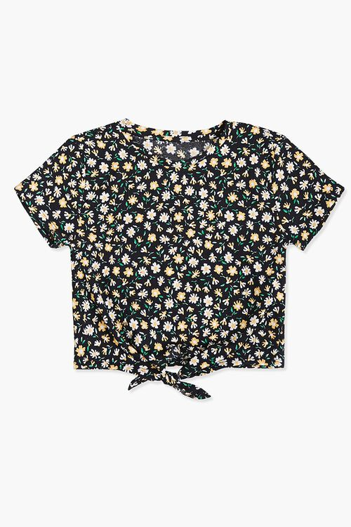Girls Daisy Knotted Tee (Kids), image 1