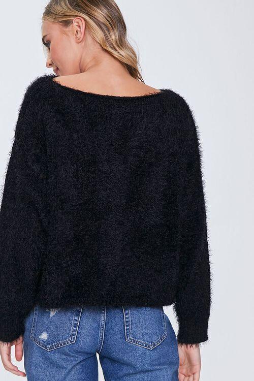 Fuzzy Knit Drop-Sleeve Sweater, image 3