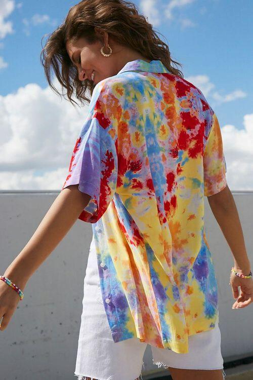 BLUE/MULTI Tie-Dye Longline Shirt, image 3