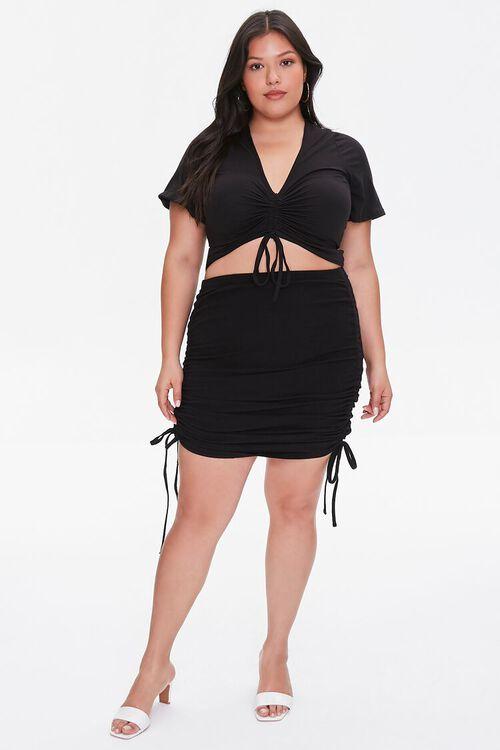 Plus Size Ruched Mini Skirt, image 5