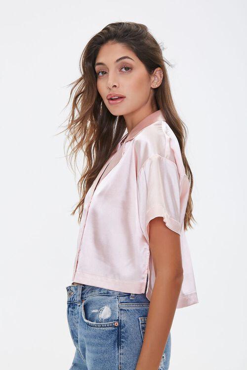 Cropped Satin Shirt, image 2