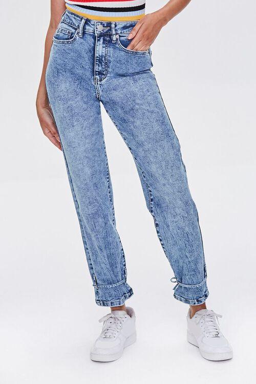 High-Rise Acid Wash Jeans, image 3