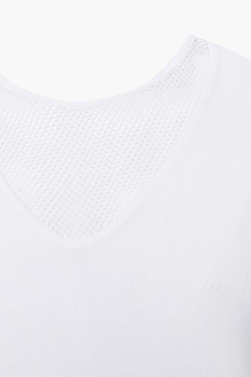 WHITE Plus Size Active Mesh-Trim Tee, image 3