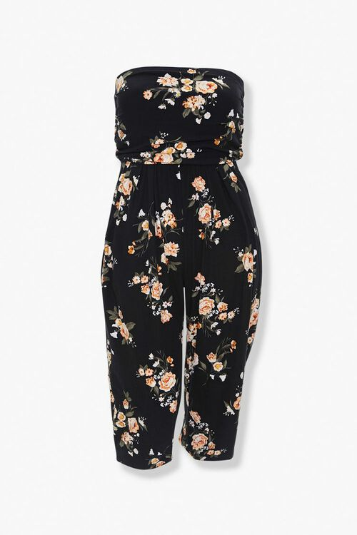 Plus Size Floral Tube Jumpsuit, image 1