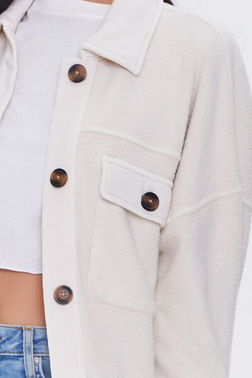 Reverse Cotton Fleece Shacket, image 5