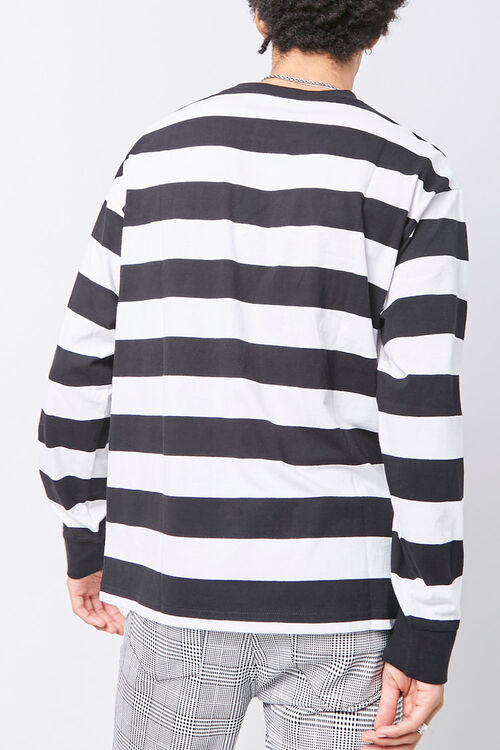 Embroidered Graphic Striped Tee, image 3