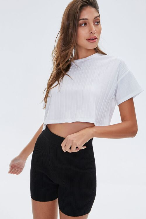 Wide-Rib Cropped Tee, image 1
