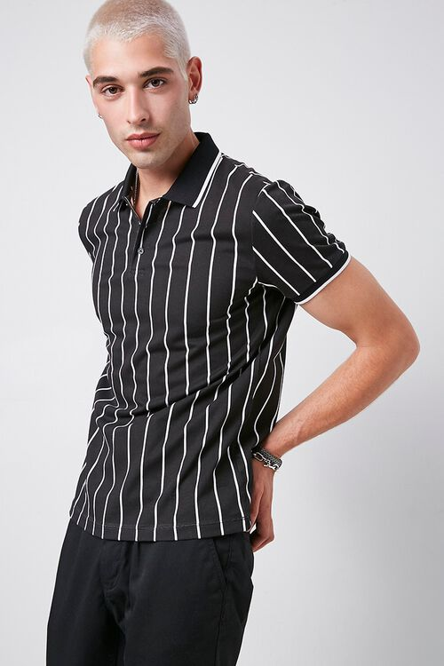 Vertical Striped Print Polo, image 1