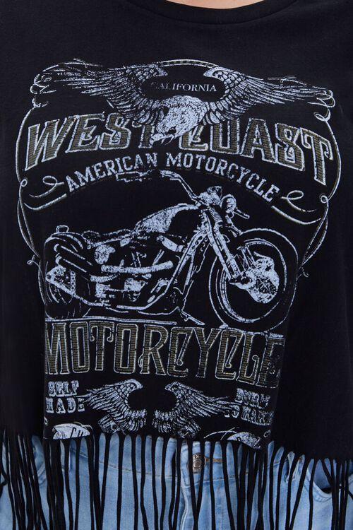 BLACK/MULTI Plus Size West Coast Motorcycle Tee, image 5