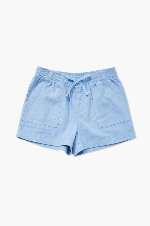 Girls Linen-Blend Shorts (Kids), image 3