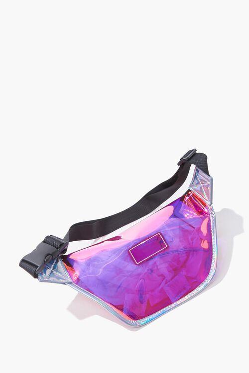 LIGHT PINK/MULTI Iridescent Transparent Fanny Pack, image 3