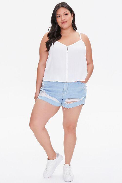 Plus Size Button-Front Cami, image 4