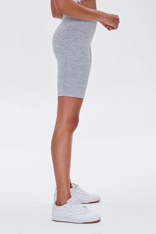 Active Seamless Heathered Biker Shorts, image 3