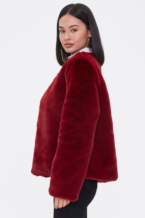 Plush Round-Neck Jacket, image 2