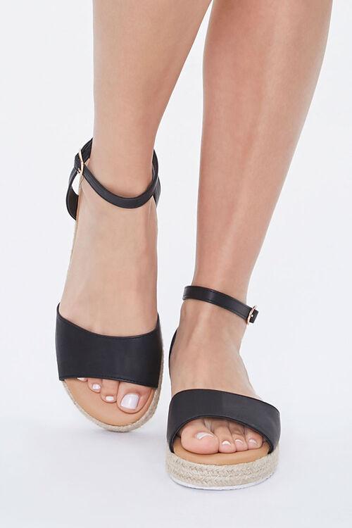 Faux Leather Espadrille Sandals, image 4
