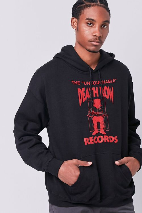 BLACK/RED Death Row Records Graphic Hoodie, image 1