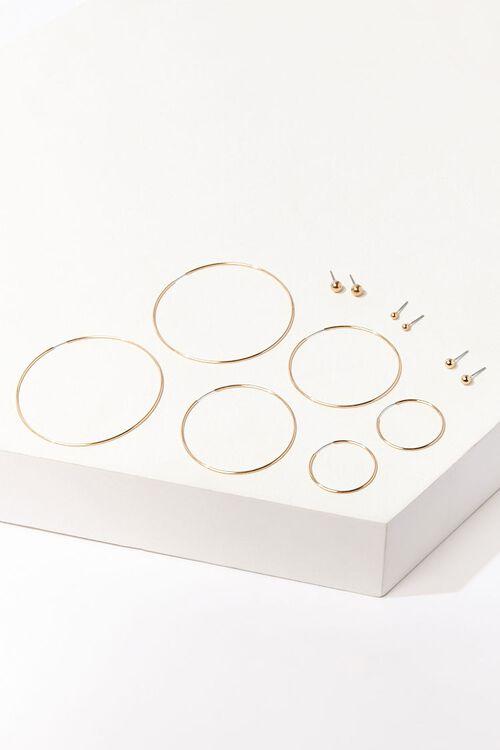 Stud & Hoop Earring Set, image 1