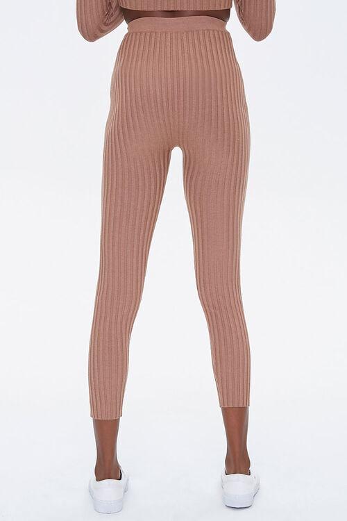 Ribbed Drawstring Leggings, image 4