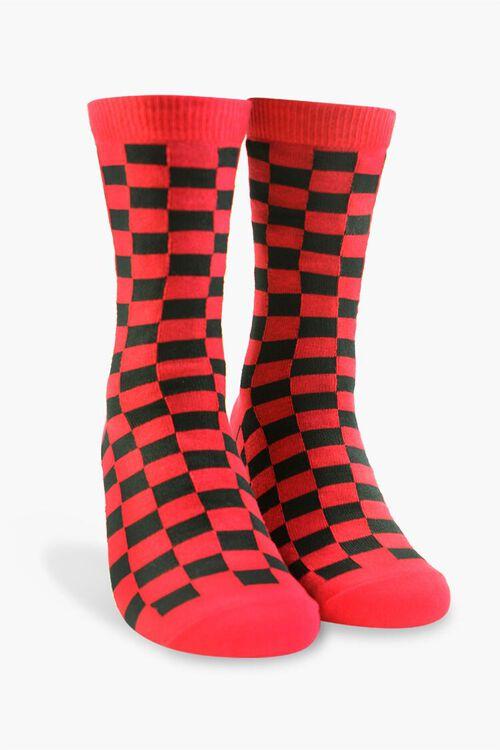 Men Checkered Crew Socks, image 1
