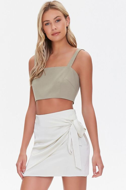 Knotted Wrap Mini Skirt, image 1
