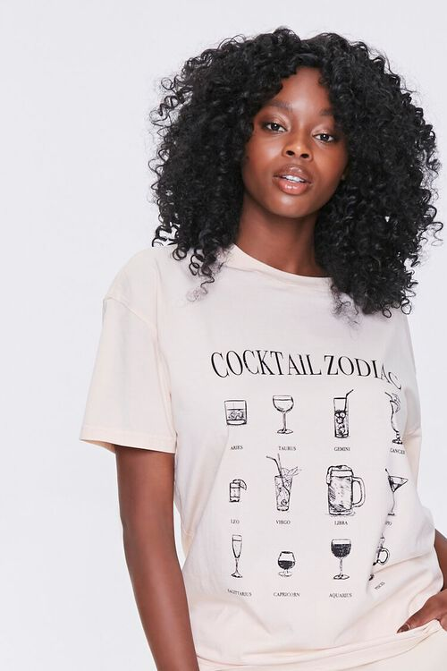 Cocktail Zodiac Graphic Tee, image 1