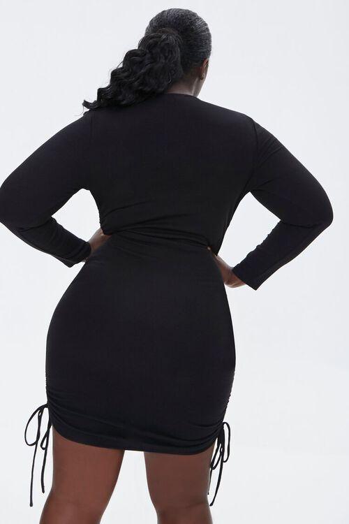 Plus Size Ruched Drawstring Dress, image 3
