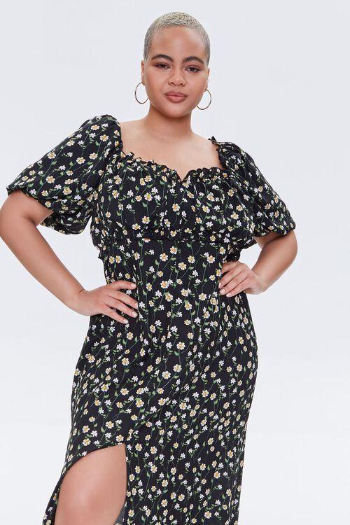Plus Size Floral Print Maxi Dress, image 4
