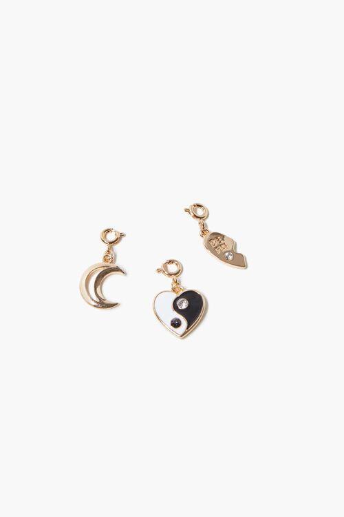 Yin Yang Heart Charm Set, image 1