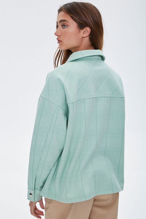 Plaid Button-Up Shacket, image 3
