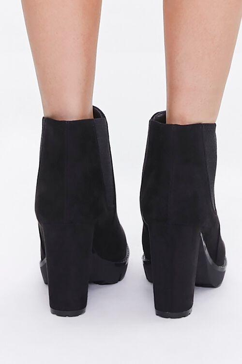 Faux Suede Block Heel Chelsea Boots, image 3