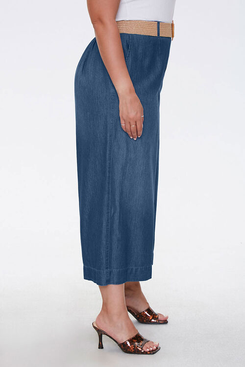 Plus Size Cropped Wide-Leg Jeans, image 3