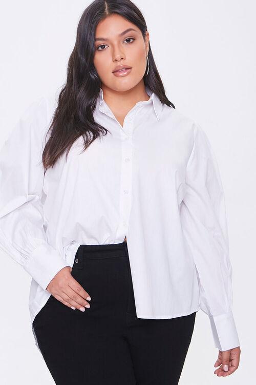 Plus Size Poplin Shirt, image 1