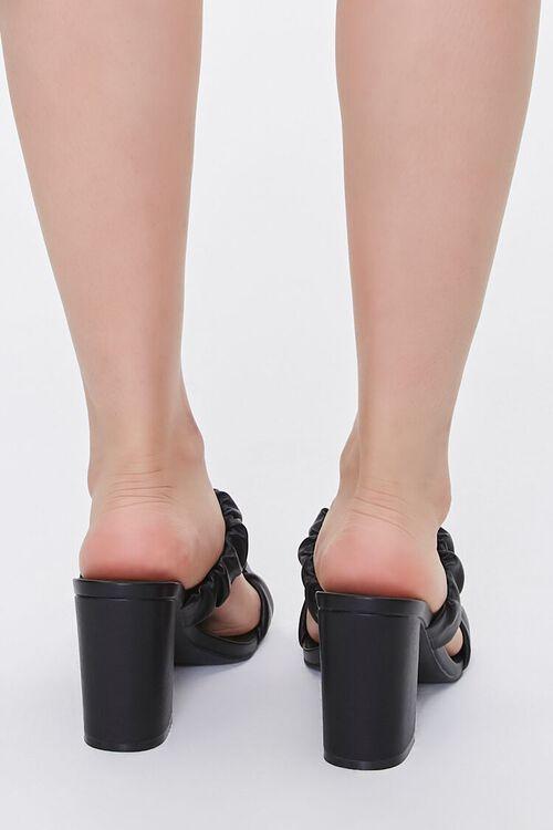 BLACK Ruched Block Heels, image 3