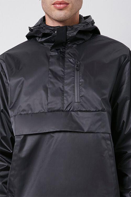 BLACK Hooded Drawstring Anorak, image 5