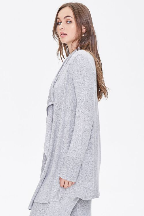 Heathered Draped-Front Robe, image 2