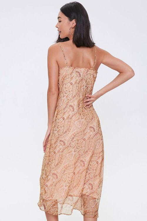 Chiffon Ornate Print Midi Dress, image 3