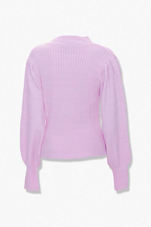 Ribbed Surplice Cutout Sweater, image 2