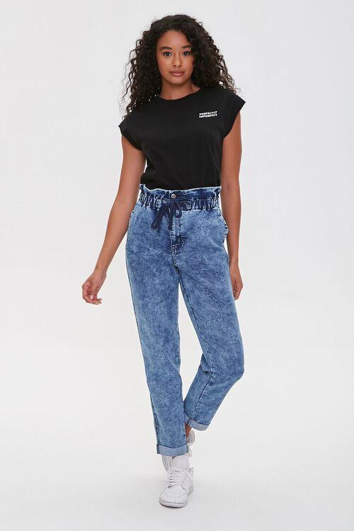 MEDIUM DENIM Paperbag Drawstring Jeans, image 1