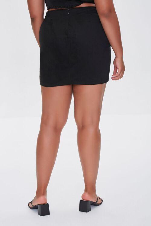 BLACK Plus Size Tulip Mini Skirt, image 4