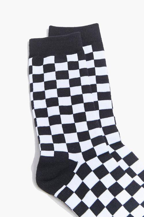 Men Checkered Crew Socks, image 2