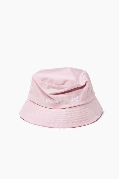 Love Embroidered Graphic Bucket Hat, image 1