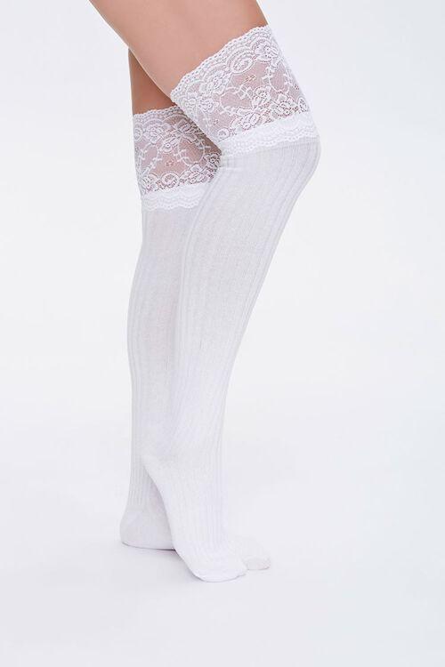 Lace Knee-High Socks, image 1
