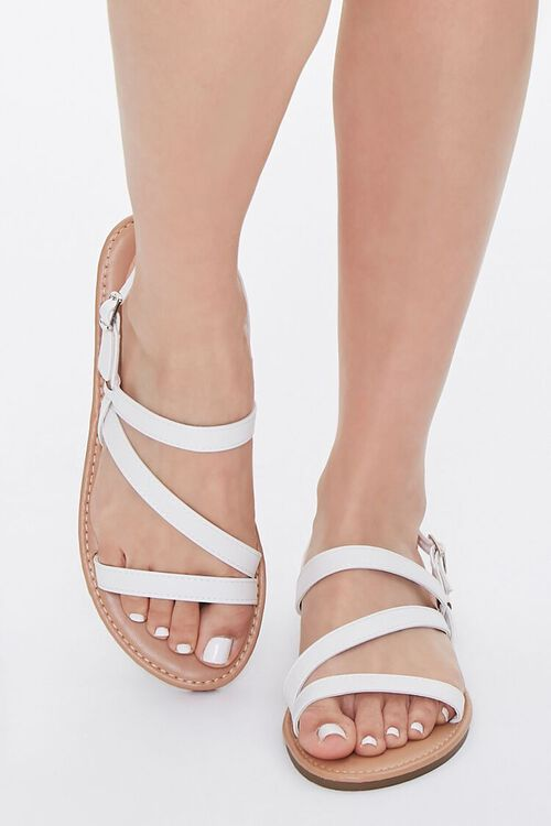 Strappy Faux Leather Sandals, image 4