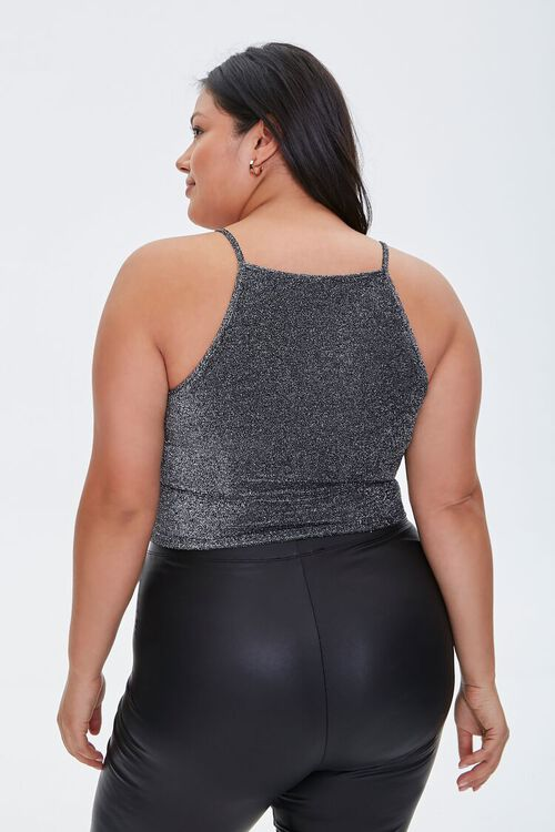 Plus Size Glitter Cropped Cami, image 3